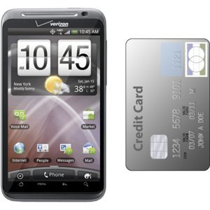 HTC Thunderbolt si card de credit
