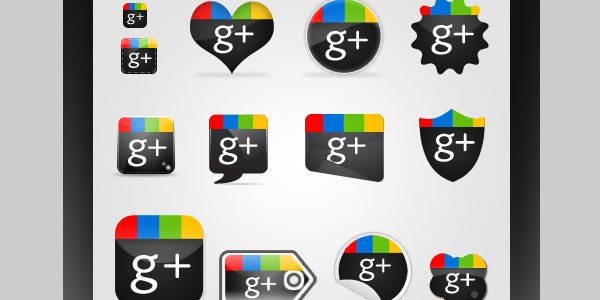 free-google-plus-icons-set