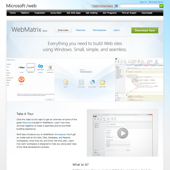Microsoft_WebMatrix_beta