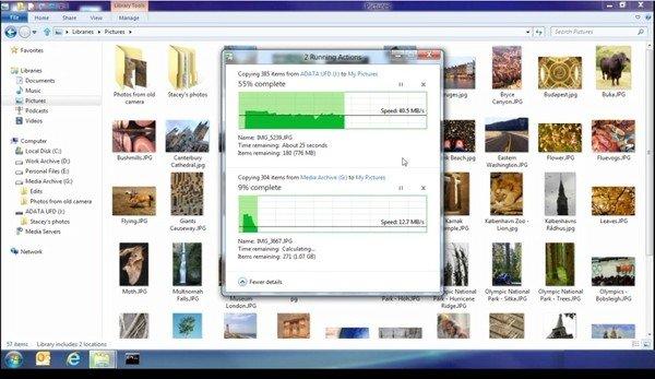 Windows 8 parallel file transfer